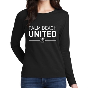 Palm Beach United Women's Long Sleeve T-Shirt - Black PBU-G5400L