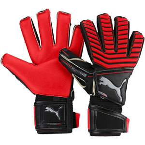 Puma One Protect 18.1 Finger Protection Glove - Red Blast/Puma Black/Silver 041439-22