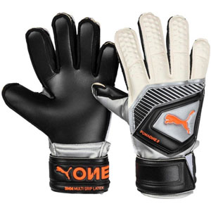 Puma One Protect 18.3 Youth Goalkeeper Gloves - Black/Silver 041481-01