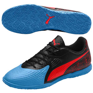 Puma One 19.4 IT - Blue Azur/Red Blast/Black Indoor 105496-01