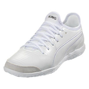 Puma King Pro IT - White/White Indoor 105669-02