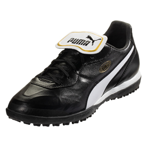 Puma King Top TT - Black/White Turf 105734-01