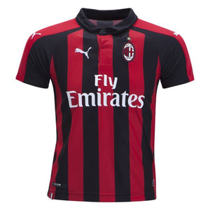 Puma AC Milan Youth Home Jersey 2018-2019 754421-06
