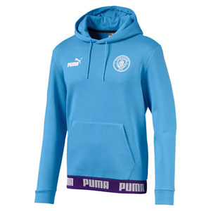 Puma Manchester City Culture Hoodie - Light Blue 756134-27