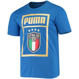 PUMA Italy DNA T-Shirt - Blue /Gold 757504-16
