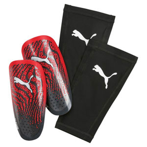 Puma One 17.3 Shin Guard - Red Blast/Puma Black 030639-22