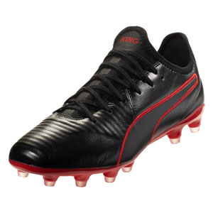 Puma King Pro FG - Black/Red 105608-03