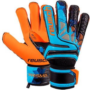 Reusch Prisma Prime S1 Evolution LTD Finger Support Goalkeeper Glove - Blue/Black/Shocking Orange 3870038