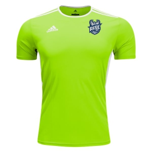 Rise FC adidas Youth Entrada 18 Training Jersey - Solar Green/White RFC-CE9755