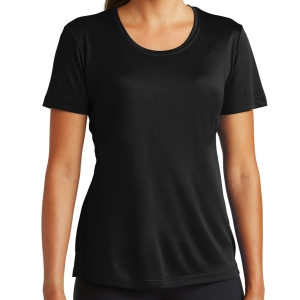 Sport Tek Women's Performance Shirt - Black LST350-Blk