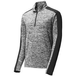 Sport Tek Youth Posi Charge 1/4 Zip Pullover Top - Black Electric/Black YST397