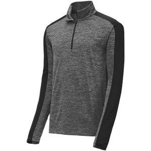 Sport Tek Youth Posi Charge 1/4 Zip Pullover Top - Grey YST397Gry