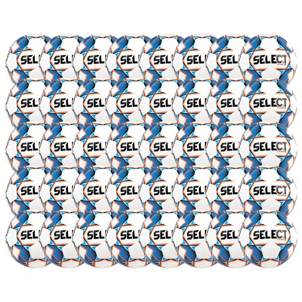 Select Club Dual Bonded Soccer Ball - White/Blue - 40 Pack CLUBDBWHRY-40PK