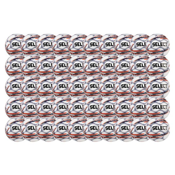 Select Campo Soccer Ball - White/Silver - 50 Pack SELCMPWH-50PCK