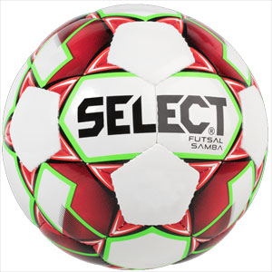 Select Futsal Samba Soccer Ball - White/Red 1480050520010101