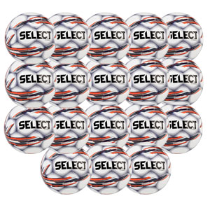 Select Brilliant Super Replica Soccer Ball - White/Blue 18 Pack 038858878-18PCK