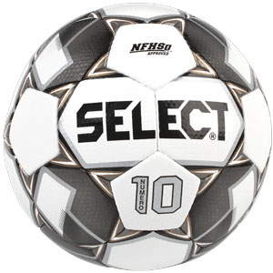 pick up 996b5 d56bb Select Numero 10 Ball IMS - NFHS Approved - White Black Gold 0275150115