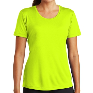Sport Tek Women's Performance Shirt - Neon Yellow LST350-NY
