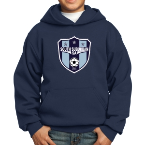South Suburban Soccer Academy Youth Hooded Sweatshirt - Navy SSSA-PC90YH