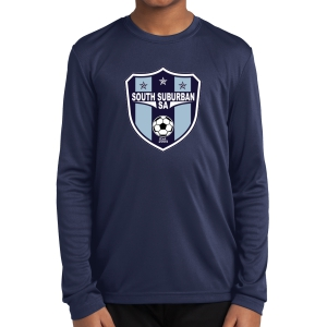 South Suburban Soccer Academy Youth Long Sleeve Performance Shirt - Navy SSSA-YST350LS