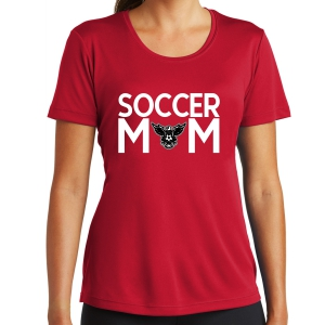 North Texas United Women's Soccer Mom Performance Shirt - Red LST350-NTU