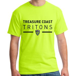 Treasure Coast Tritons Supporter T-Shirt - Neon Yellow TCT-G5000-NYw