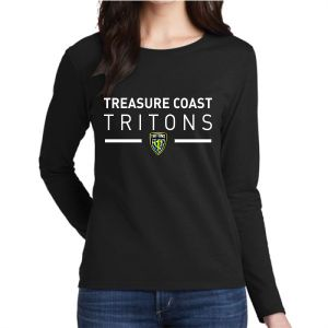 Treasure Coast Tritons Women's Long Sleeve T-Shirt - Black TCT-G5400L
