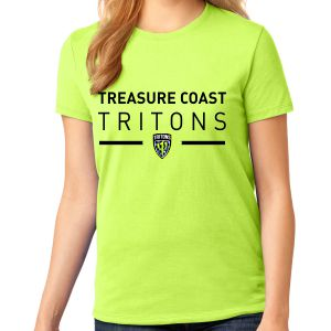 Treasure Coast Tritons Ladies T-Shirt - Neon Yellow TCT-LPC54-NYw