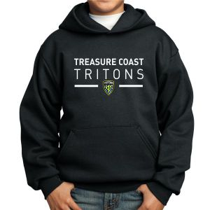 Treasure Coast Tritons Youth Hooded Sweatshirt - Black TCT-PC90YH