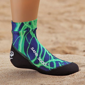 Sand Socks - Kid/Toddler - Green Lightning SSKGRNL