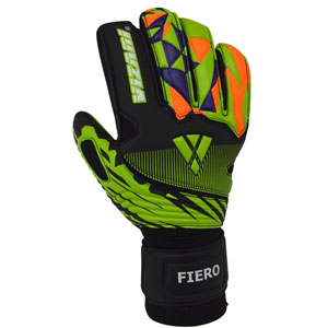 Vizari Fiero Goalkeeper Glove Finger Protection - Black/Green/Orange VZGL80082