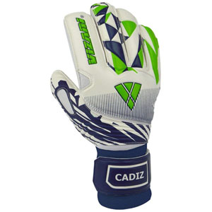 Vizari Cadiz Goalkeeper Glove Finger Protection - White/Navy/Green VZGL80084