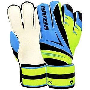 Vizari Avio Goalkeeper Glove Finger Protection - Blue/Green VZGL80076