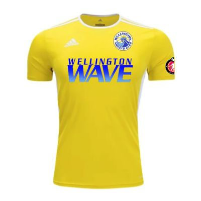 Wellington Wave SC - ECNL Girls - adidas Entrada 18 Goalkeeper Jersey - Yellow/White WWSC-CD8390-ECNLG