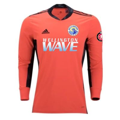 Wellington Wave SC - ECNL Girls - adidas adiPro 20 Goalkeeper Jersey - Coral/Black WWSC-FI4191-ECNLG