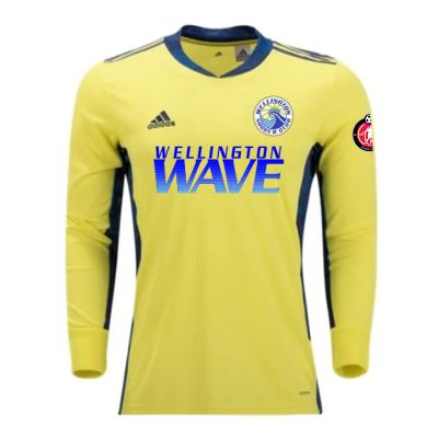 Wellington Wave SC - ECNL Girls - adidas adiPro 20 Goalkeeper Jersey - Yellow/Navy WWSC-FI4195-ECNLG