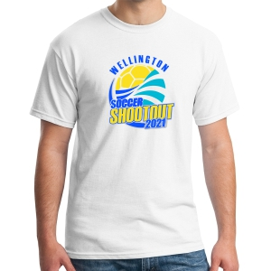 Wellington Shootout T-Shirt - White WWSC-5000-SO
