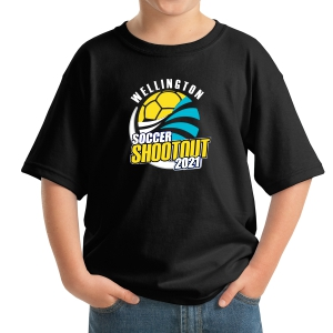 Wellington Shootout Youth T-Shirt - Black WWSC-B-5000B-SO