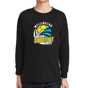 Wellington Shootout Youth Long Sleeve T-Shirt - Black WWSC-B-5400B-SO