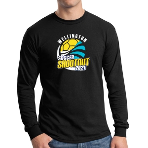Wellington Wave Soccer Club Long Sleeve T-Shirt - Black WWSC-B-G5400-SO