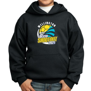 Wellington Shootout Youth Hooded Spirit Sweatshirt - Black WWSC-B-PC90YH-SO