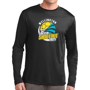 Wellington Shootout Long Sleeve Performance Shirt - Black WWSC-B-ST350LS-SO