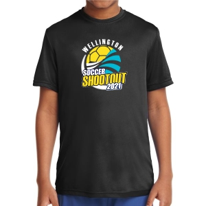 Wellington Shootout Youth Performance Shirt - Black WWSC-B-YST350B-SO