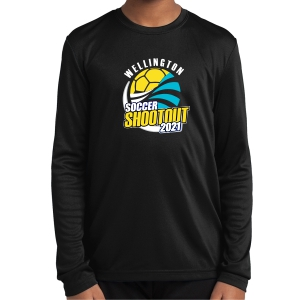 Wellington Wave Soccer Club Youth Performance Long Sleeve Shirt - Black WWSC-B-YST350LS-SO