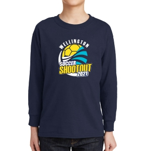 Wellington Shootout Youth Long Sleeve T-Shirt - Navy WWSC-N-5400B-SO