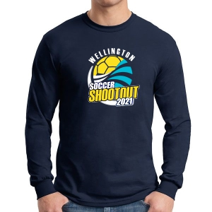 Wellington Shootout Long Sleeve T-Shirt - Navy WWSC-N-G5400-SO