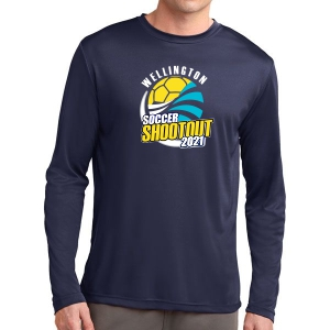 Wellington Shootout Long Sleeve Performance Shirt - Navy WWSC-N-ST350LS-SO