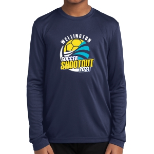 Wellington Shootout Youth Performance Long Sleeve Shirt - Navy WWSC-N-YST350LS-SO