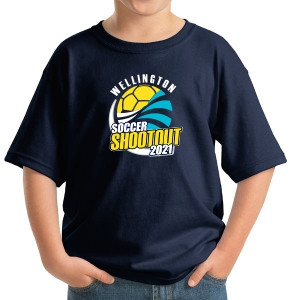 Wellington Shootout Youth T-Shirt - Navy WWSC-NV-5000B-SO