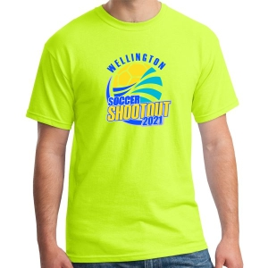 Wellington Shootout T-Shirt - Neon Yellow WWSC-NY-5000-SO
